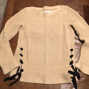 Loft lace up sweater